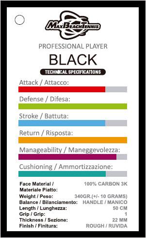 RAQUETE BEACH TENNIS MBT BLACK (MODELO 2021)